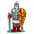 Раскраска древние воины