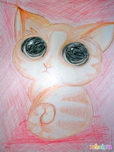 Котик карандашом