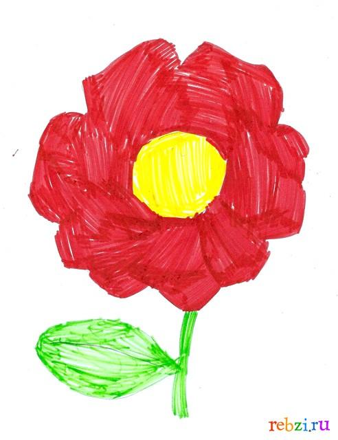 Цветы детские рисунки