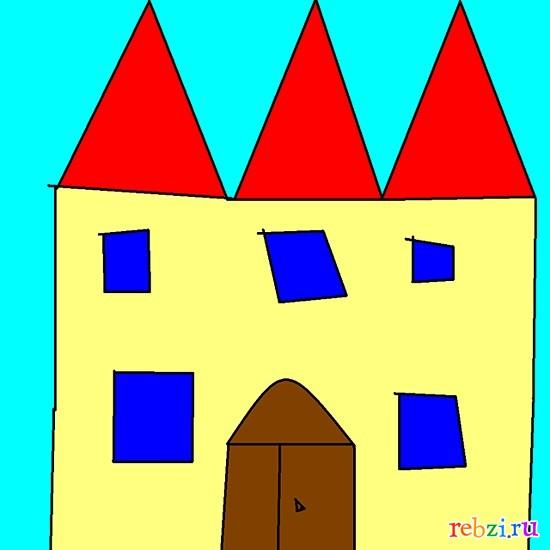 рисунок замка: