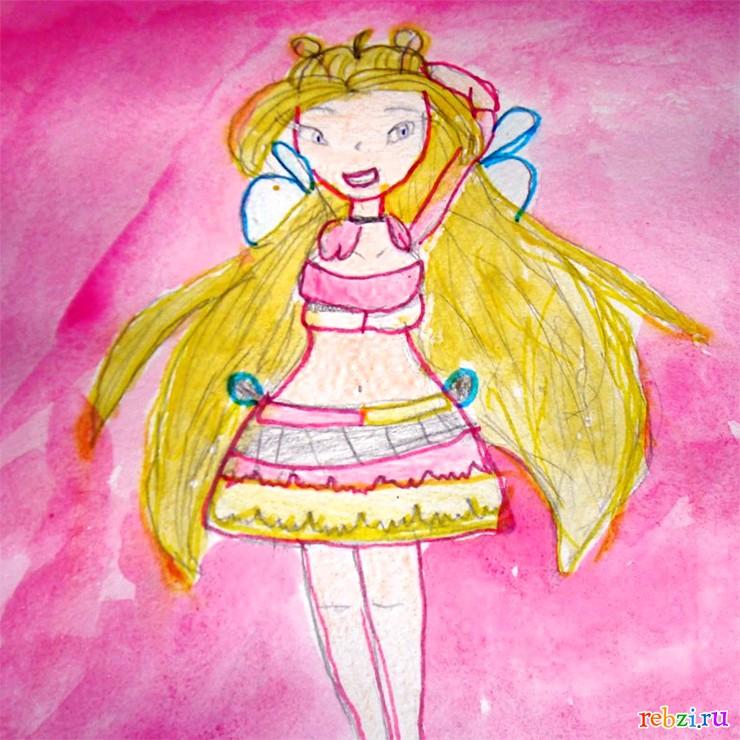 Картинки винкс рисунки карандашом 9 лет