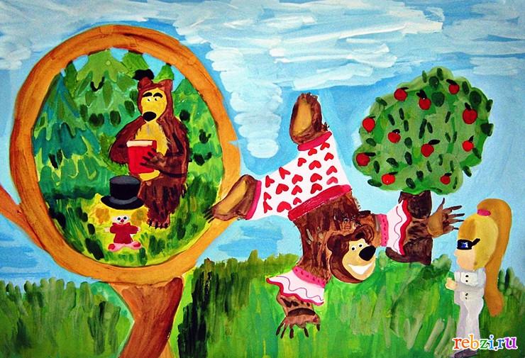 Маша и медведь картина маслом ...: pictures11.ru/masha-i-medved-kartina-maslom.html
