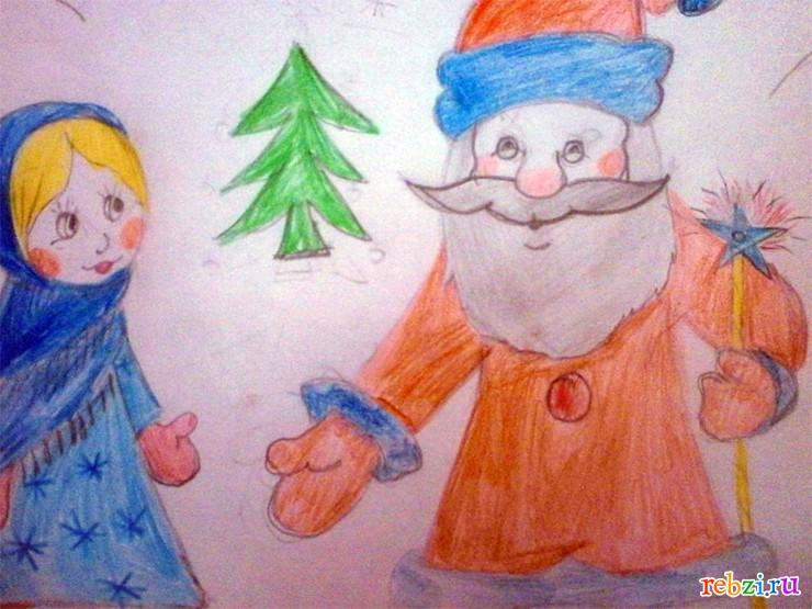 рисунок деда мороза: