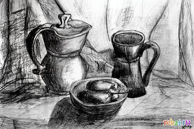 фото черно-белые натюрморты