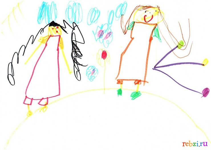детские рисунки на праздник маме
