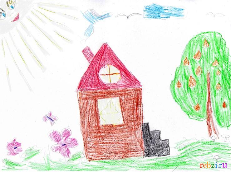 Рисунок домика, бесплатные фото, обои ...: pictures11.ru/risunok-domika.html