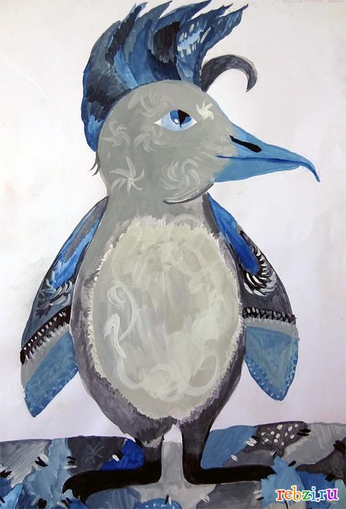 Фестиваль детских рисунков пингвин