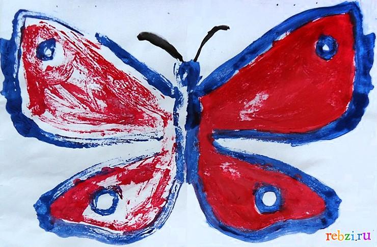 рисунок на потолок бабочка