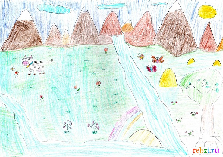 рисунки о природе детские: