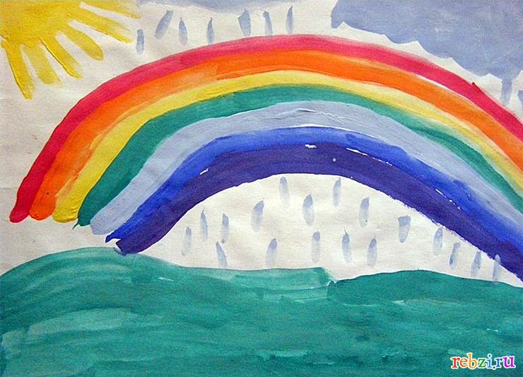 картинки радуга рисунки