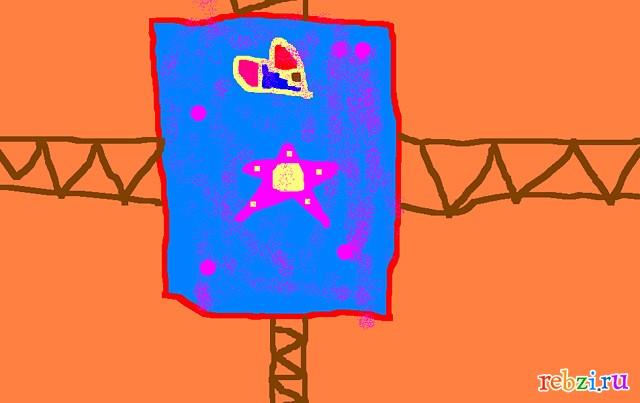 Детский рисунок флаг на дереве