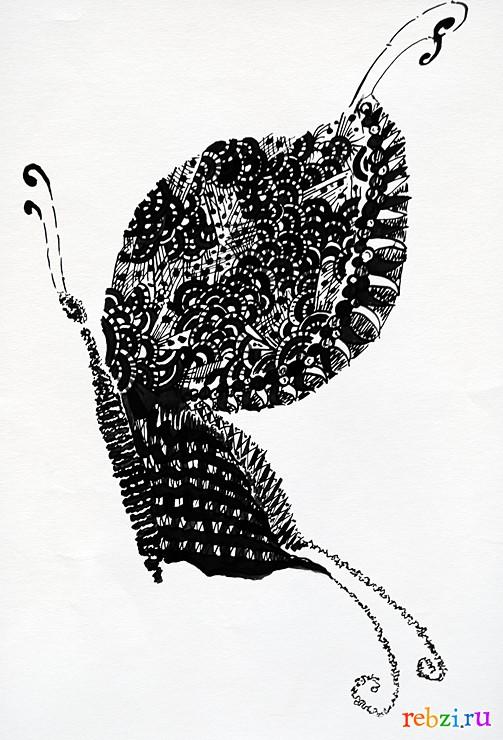 рисунок пера: