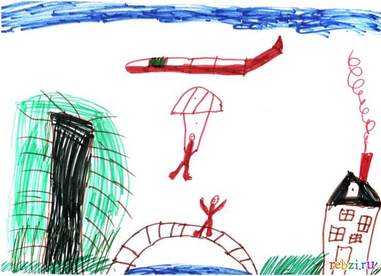 Детский рисунок наш огород на даче