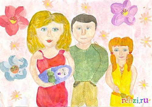 Детские рисунки - фестиваль. Детский рисунок / моя семья